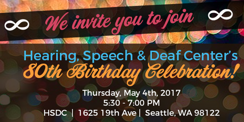 Information about HSDC's 80th Birthday Celebration.