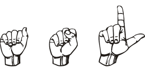American Sign Language handshape spelling ASL