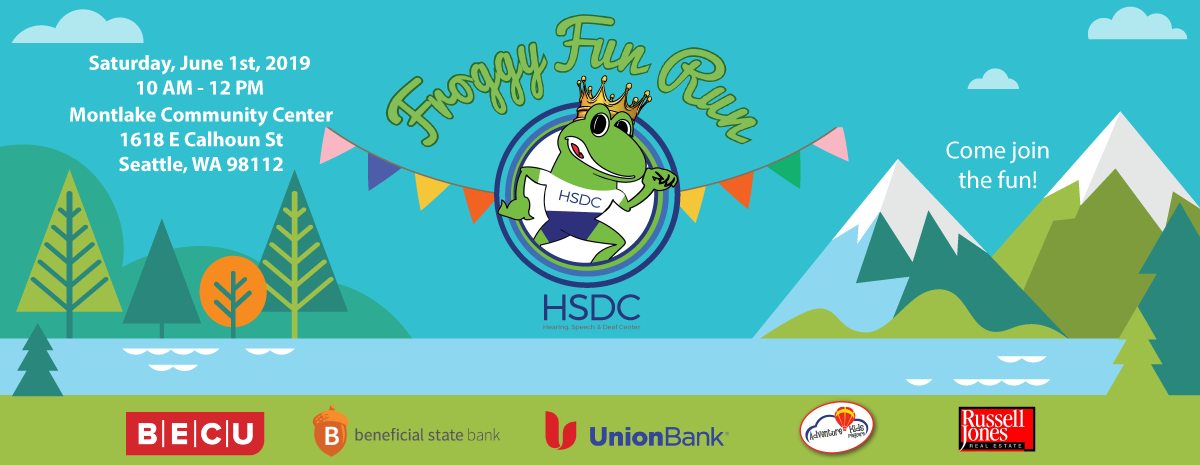 Froggy Fun Run 2019 banner.